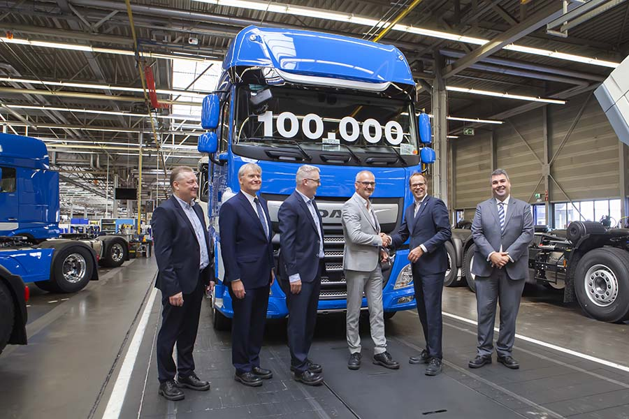 DAF builds 100,000 in two years